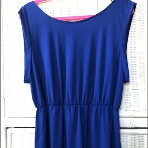 Royal blue sleeveless dress